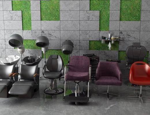 洗头椅, 电吹风, 单椅