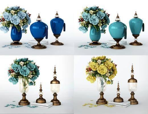 花瓶花卉, 美式花瓶花卉, 美式