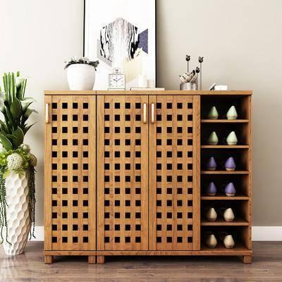 装饰柜, 鞋柜, 绿植, 摆件, 装饰画, 现代