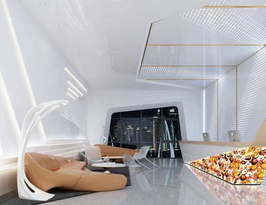 大厅, 沙发, 前台, 茶几, 休闲区