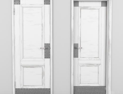 现代简约, 白色, 木门, 现代门