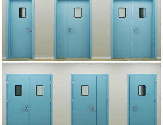 门, 医用门, 医院门, 蓝色门