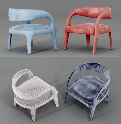 休闲椅组合, 单人椅组合, 现代