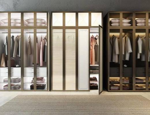 百叶衣柜, 衣柜, 服饰, 现代