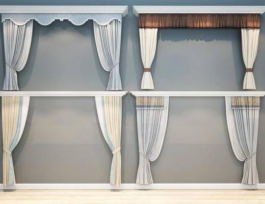 现代窗帘, 美式窗帘, 欧式窗帘, 窗帘