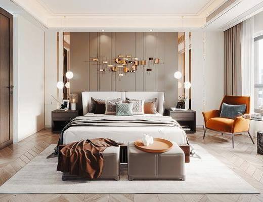 现代卧室, 轻奢卧室