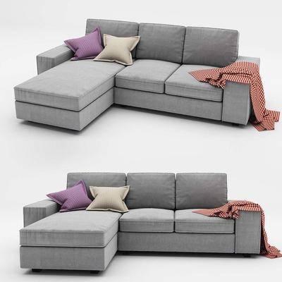 现代, 布艺沙发, 多人沙发, 沙发组合, 转角沙发, 现代布艺转角沙发, 纯色沙发, 简约沙发, 现代简约
