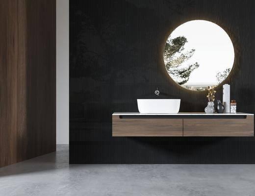 洗手盆, 洗浴组合, 摆件组合, 壁镜