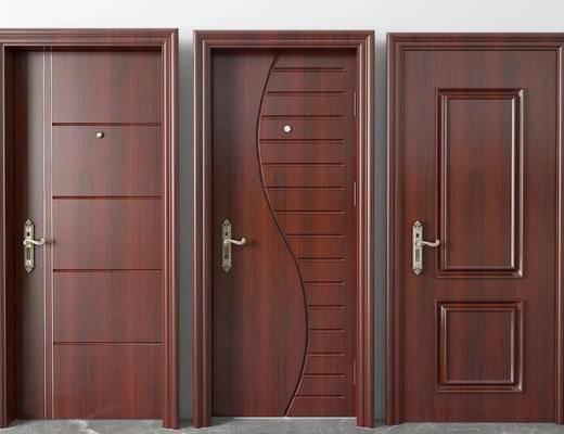 平开门, 实木门, 现代实木门, 房门