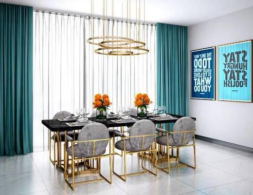 现代餐桌椅, 北欧餐桌椅, 中式吊灯, 现代吊灯, 北欧吊灯, 现代挂画, 北欧挂画, 现代, 椅子, 桌子, 餐桌椅, 吊灯, 挂画, 装饰画