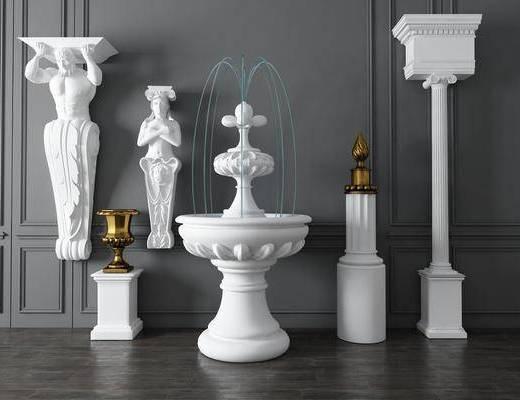 裝飾品, 石膏柱