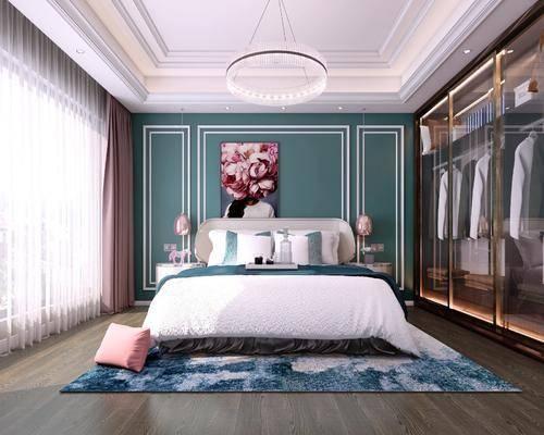 现代卧室, 轻奢卧室, 卧室