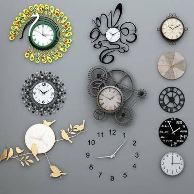 现代钟表墙饰, 现代, 时钟, 挂钟, 钟
