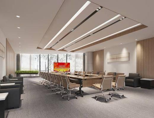 大型, 会议室, 工装
