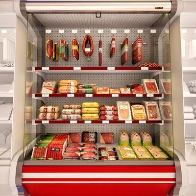 冰柜, 冰箱, 货架, 商品