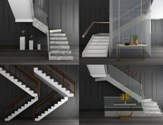 现代楼梯, 楼梯, 扶手梯