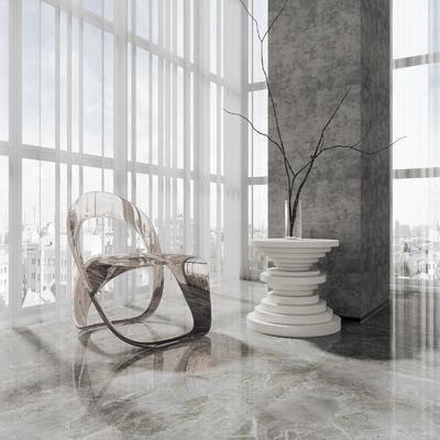 现代, 亚克力, 休闲椅, 单体
