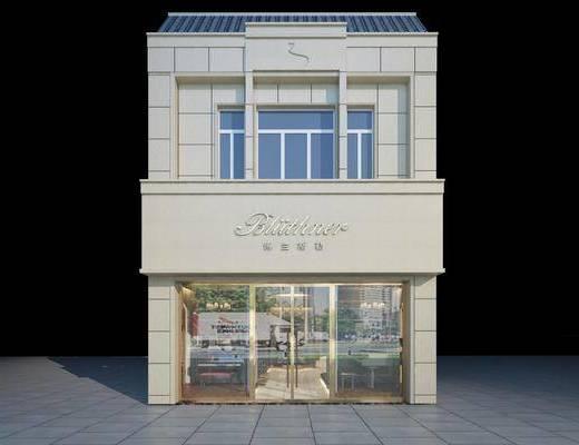钢琴店, 门面门头, 现代
