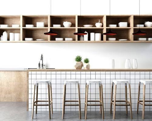 吧台, 吧椅, 装饰柜, 北欧