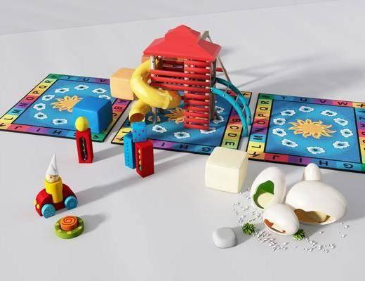 儿童玩具, 游乐滑梯, 现代