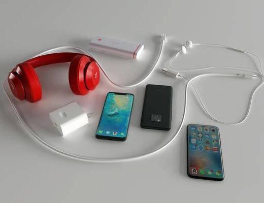 数据线, 耳机, 充电宝