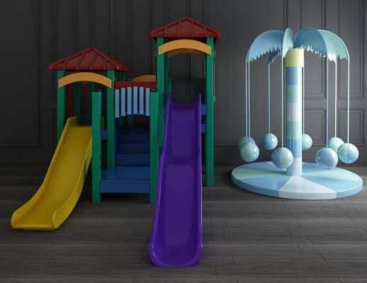 儿童滑滑梯, 玩具组合, 现代