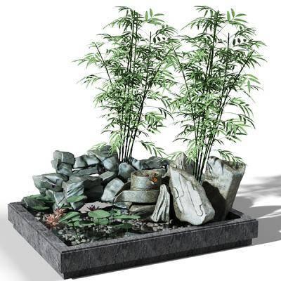 中式, 园艺, 小品