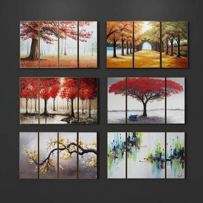 油画, 装饰画, 装饰画组合, 现代, 挂画