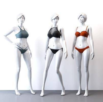 模特女人, 运动内衣, 现代