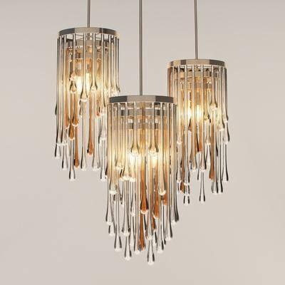 吊灯, 不锈钢吊灯, 水晶吊灯, 吊灯组合, 不锈钢水晶吊灯, 现代