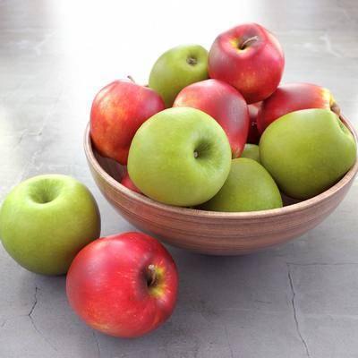 苹果, 盘子, 现代