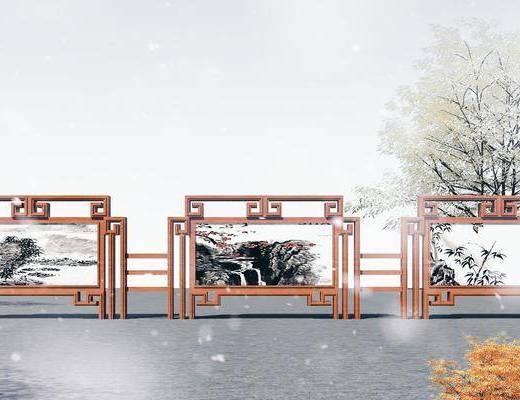 木结构报栏, 广告栏, 展板, 宣传栏
