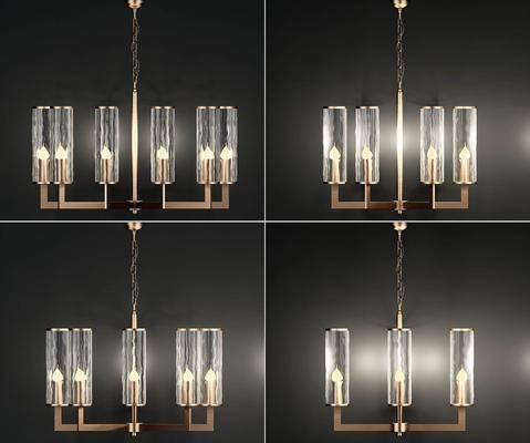 玻璃吊灯, 金属吊灯, 现代