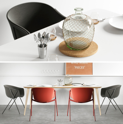 现代餐桌椅饰品模型组合, 现代, 餐桌椅, 餐具, 椅子