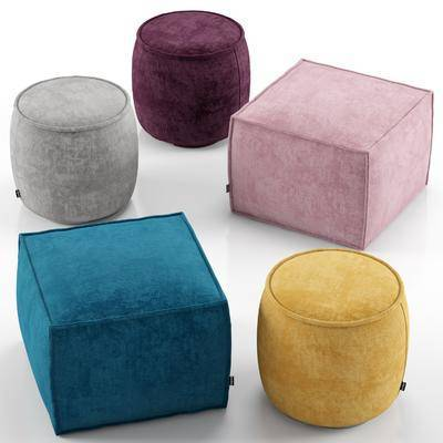 現代沙發凳, 布藝沙發凳, 圓凳