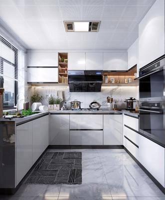 廚房櫥柜, 廚房用品, 廚房電器, 煙機灶具, 蒸箱烤箱, 廚具組合, 現代