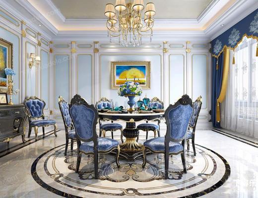 欧式混搭, 欧式客厅, 混搭客厅, 古典客厅, 客厅