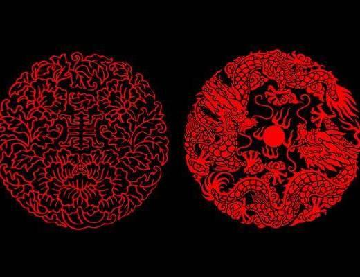 花纹, 雕花, 中式