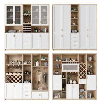 鞋柜酒柜, 装饰柜组合, 摆件, 装饰品, 陈设品, 北欧