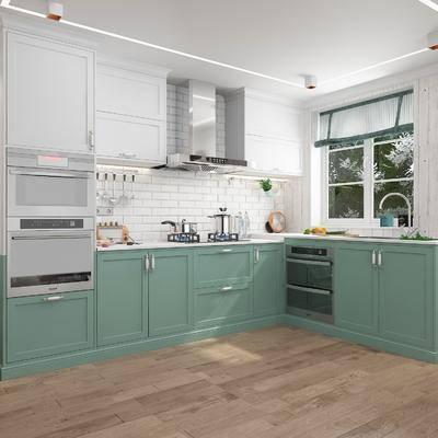 厨房, 厨具, 洗手台, 橱柜, 北欧