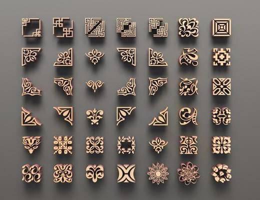 雕花, 角线, 新中式雕花, 新中式, 金属, 双十一