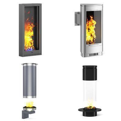 壁炉, 现代壁炉, 现代, 挂式