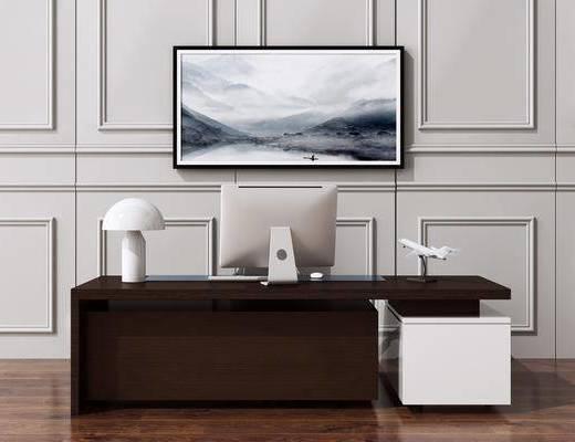 辦公桌, 桌椅組合, 新中式