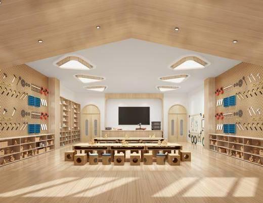 手工室, 课室, 桌椅组合, 置物柜