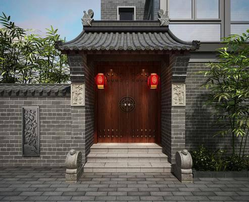 古建, 门头, 新中式古建