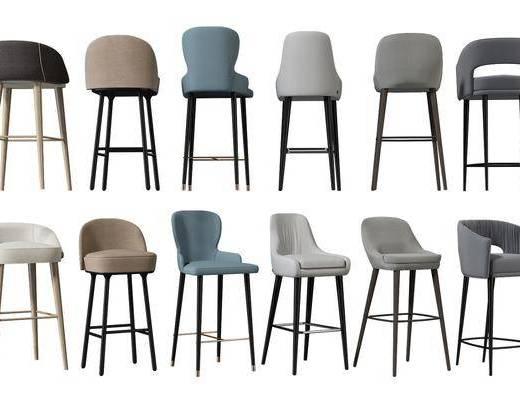 现代, 吧台椅, 单椅
