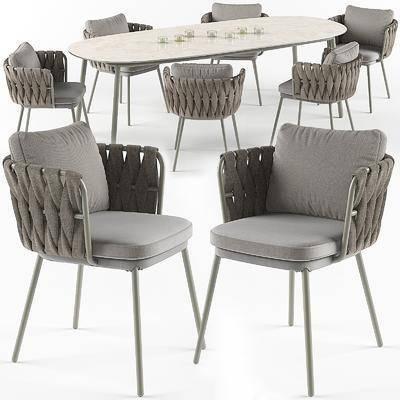 桌椅组合, 现代桌椅, 餐桌, 餐椅, 蜡烛, 组合, 现代