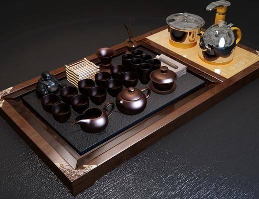 茶具, 茶几, 摆件, 新中式