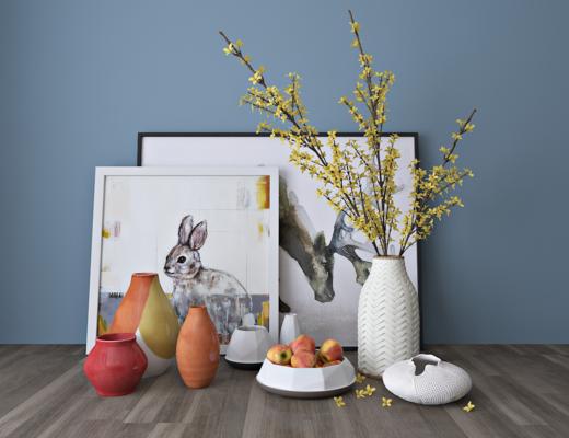现代陶瓷花瓶, 器皿, 摆件