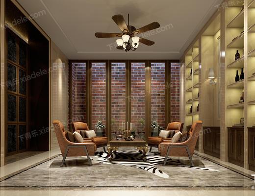 洽谈区, 会客厅, 会客区, 客厅, 沙发组合, 沙发茶几组合